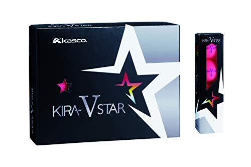 キャスコ(Kasco) ゴルフボール KIRA STAR V キラスターV ユニセックス キラスターVN ピンク 最適ヘッドスピード: 25~45 2ピースボール: 1コア+1カバー 4個入