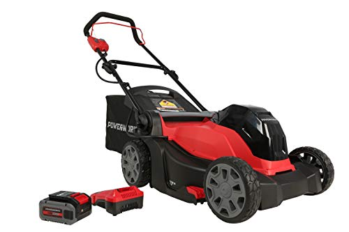 "Powerworks XB 40V 17"" Cordless Push Mower, 4Ah Battery and Charger Included LMF318"