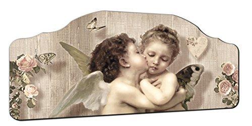 Lupia Quadro CAPEZZALE Angels 50X100 cm SU TAVOLA Lavorata Shabby Kiss