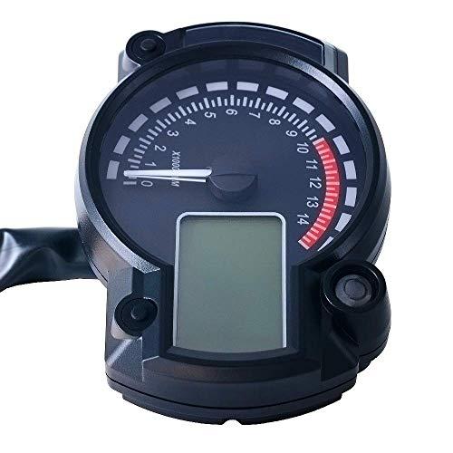 Tableau d'affichage à cristaux liquides modifié du tableau de bord 12V, compteur de vitesse de moto Quad Frenzy, instrument numérique LCD de la moto 12V