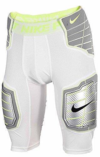Nike Pro Combat Hyperstrong Compression Hard Plate (L, WHITE/WHITE/VOLT/VOLT)