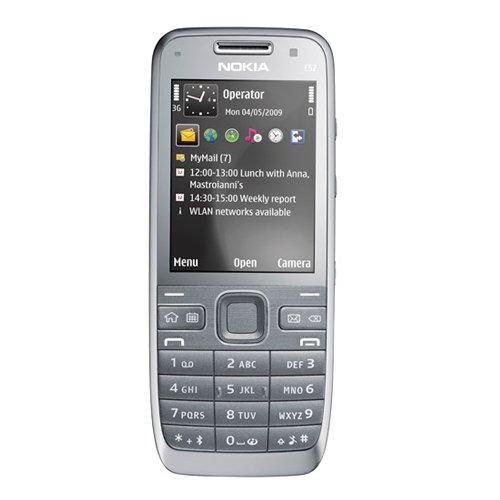 Nokia E52 metal grey aluminium (UMTS, GPS, A-GPS, WLAN, MP3, Bluetooth, Fotocamera dat 3,2 MP, Mappe Ovi ) Cellulare (Importato da Germania)