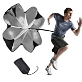 DEARLIVES Running Parachute, 56 Inch Parachute for Speed Training, Speed Chute with Adjustable Strap, Free Carry Bag for Running, Cycling, Skating and Other Sports Speed Training