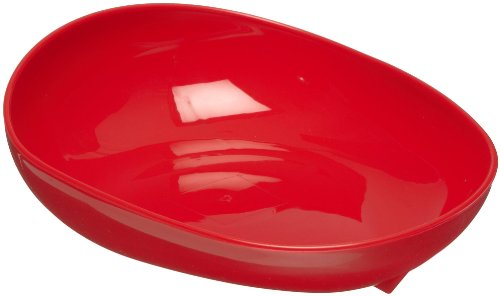Maddak Skidtrol Red Scooper Dish with Non-Skid Base