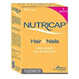 Nutricap Hair Growth Supplement, 3 month supply (180 Softgels)