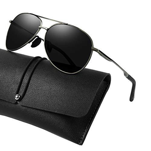 WHCREAT Las Gafas de Sol Polarizadas Clásicas para Hombre con Protección UV400 y Marco Ultraligero