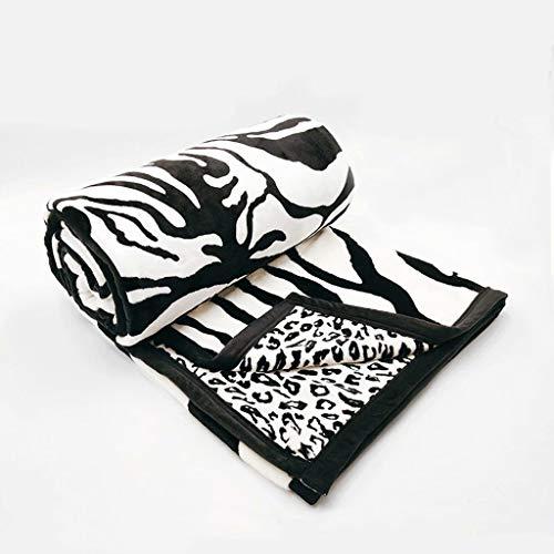ZDNB Manta Suave de Lana de Franela de 2,5 kg para cojín/sofá/Silla/sofá Ligero, cálido y cómodo (Negro) 180 * 200 CM