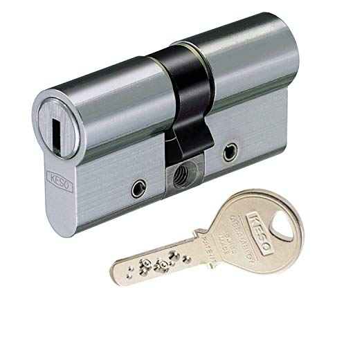 KESO 2500FP Doppelzylinder mit Not- und Gefahrenfunktion 30/35 inkl. 3 Schlüssel - Wendeschlüssel-Sicherheitszylinder - Sicherungskarte - Bohrmuldenschlüssel