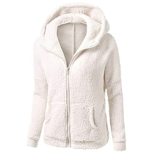 Las Mujeres Sudaderas Cálido Forro Polar Chaqueta Invierno Otoño Abrigo Casual Cremallera Sudadera Sólido Mujer de Piel Outwear