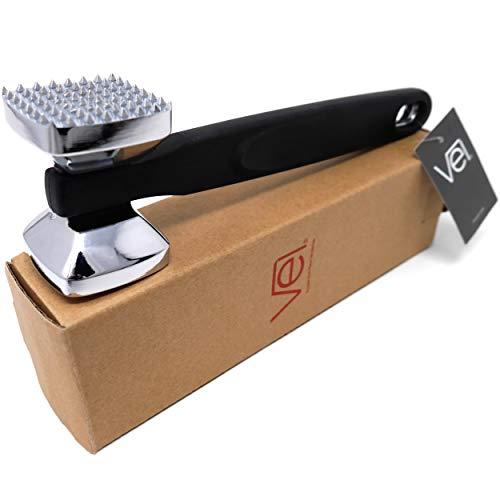 [Just Arrived] Vel. Non-Slip Double Side Meat Tenderizer Hammer Pounder - Heavy Duty Ergonomic Design