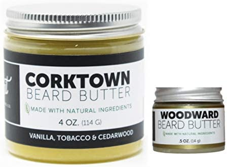 Detroit Grooming Co Beard Butter Combo Corktown 4oz and Woodward 0 5oz Essential Oils Natural product image