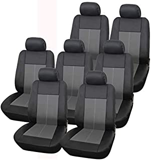 Shield Autocare RLLTR9PC-GREY Real Leather Look Full Car Cover Set PVC with Foam Rear Seat Zips 2 mm
