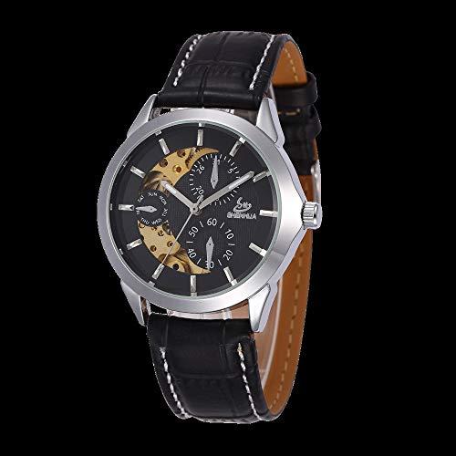 SJXIN Orologio meccanico di alta qualità, Shenhua / 9261 orologio meccanico automatico in pelle per uomo e donna (Color : 5)