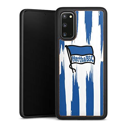 DeinDesign Holz Case kompatibel mit Samsung Galaxy S20 Walnuss Handyhülle Echtholz Hülle Offizielles Lizenzprodukt Bundesliga Hertha BSC