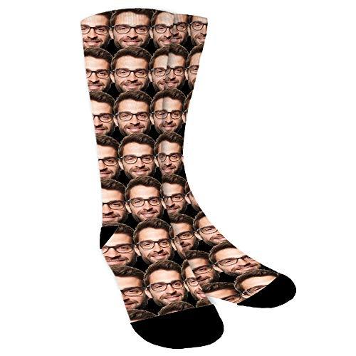 Aolun Personalisierte Socken,Socken Personalisiert Foto,Mehrere Gesichter,Legen Sie Ihr Gesicht auf Socken für Damen,Herren
