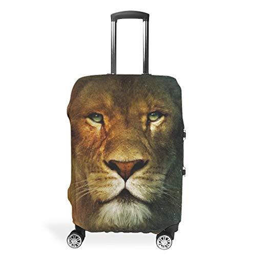 Funda protectora para maleta, diseño de tigre y león de viaje, resistente, 4 tamaños para mucho equipaje, White (Blanco) - Viiry-XLXT-24