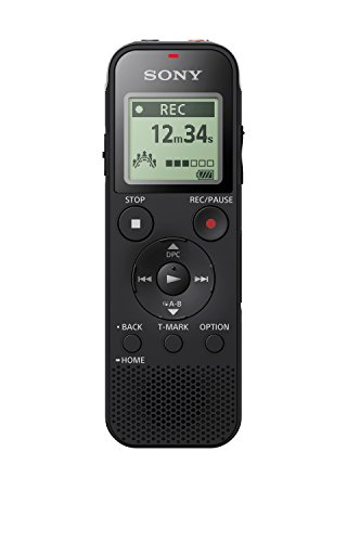 Sony ICD-PX470 Digital Wide-Stereo MP3 Voice Recorder with S-Microphone, Built-In USB, 4 GB Memory, SD Memory Slot and 55 Hours Recording