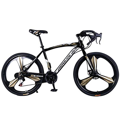 26in Mountain Bike, Road Bikes, Full Suspension Road Bikes with Disc Brakes, 21 Speed Bicycle Full Suspension MTB Bikes for Men/Women High-Carbon Steel Mountain Bike, 700c