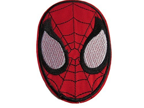 Spiderman Mask Web SuperHero Marvel Comics Movie Logo Kid Polo T shirt Patch Sew Iron on Embroidered Badge Costume