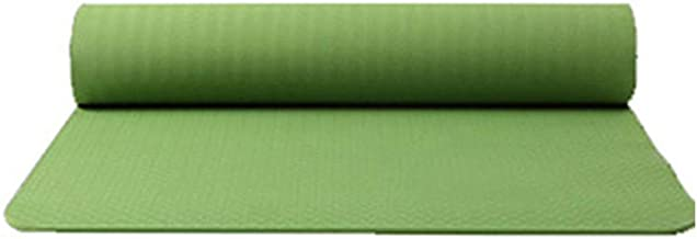 $23 » Classic Yoga Mat - TPE Non Slip Fitness Exercise Mat Workout Mat for Yoga 0.5CM Thick High Density Fitness Pilates Mat Home Exercise Mat - Light & Easy to Carry - 183 X 61 X 0.6CM (Green)