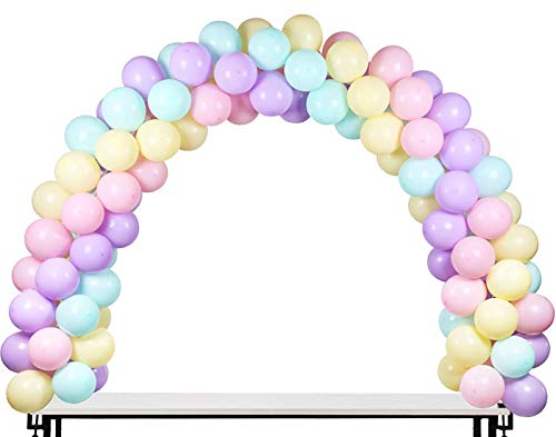 LANGXUN Schwarz Ballon Bogen Kit Ballonbogen-Halbkreisbogen-Kit 2 verstellbare Clips für Verschiedene Tischgrößen für Hochzeiten und Abschlussfeiern zum Geburtstag
