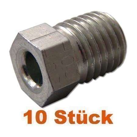 10x Verschraubung M10 X 1 Für Bremsleitung 4 75 Mm Bördel E Typ D Profi Verbinder Din Iso 1651 Konform Auto