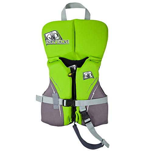 Body Glove Infant Neoprene USCGA Vest - Infant - Lime Green & Charcoal - Water Life Jacket Vest for Extreme Sports Boat Kayak Paddling Use and Safety Sports Vests for Boys and Girls