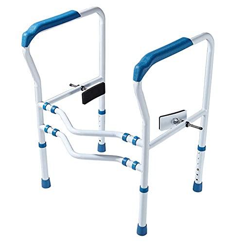 FYHH-JZHY Toiletten-Sicherheitsgeländer Breitenverstellbare Höhe Toiletten-Sicherheitsbügel Behindertentoilette Für Ältere Menschenhandlauf Für Alle Toiletten Geeignet