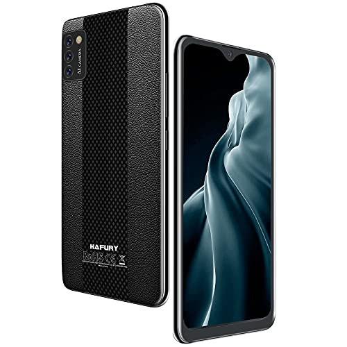 Hafury Smartphone Libre Barato y Bueno teléfono móvil Libre 4G Inteligente Android 10 cámara Triple 5.5 Pulgadas Dual sim 3100mAh Tres Ranuras desbloqueo Facial Memoria expandible