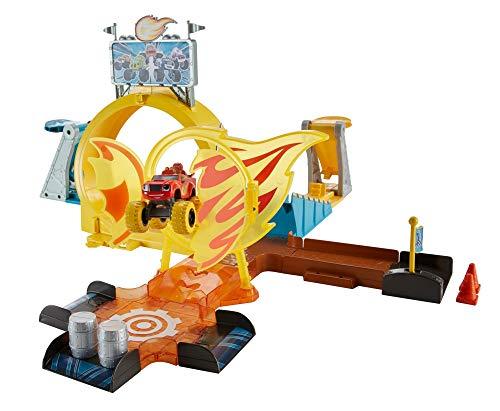 Blaze y los Monster Machines- Pista de Acrobacias monstruosas en Axle City, Multicolor (Mattel GFC08)