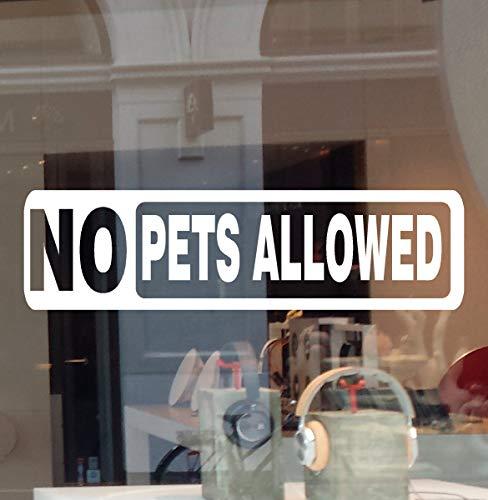 "JBY Graphics No Pets Allowed Business Sign Decal Vinyl Sticker No Dog No Cat Door Window Retail Store Office Restaurant School Building (RED, 8.5"" W X 2.5"" H)"