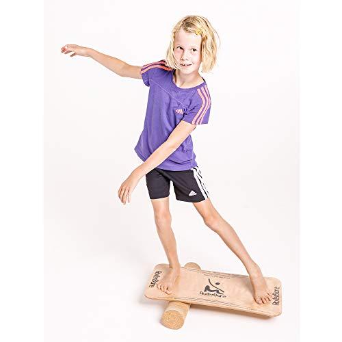 RollerBone Starter Kork Set / Balance Board-Set-Trainer-Gleichgewicht-Surf-Fitness