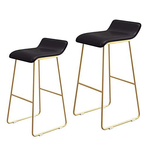 CHAIR Silla bar, cafetería, silla de restaurante, taburete de bar de bar para taburetes de desayuno, bistro, encimera, cocina y taburetes para el hogar, juego de 2 asientos nórdicos de altura contemp
