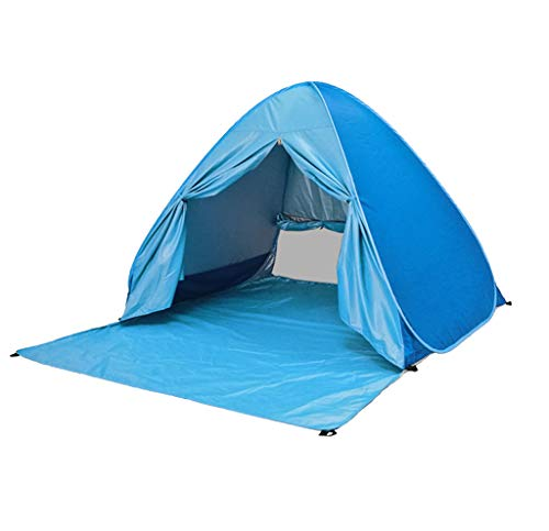 TTlove Pop Up Tent, Beach Camping Tent Foldable Outdoor UV Lightweight Waterproof tent as Sun Shelter Children Family and Dog on Garden, Beach(Blue,150x165 x110cm)