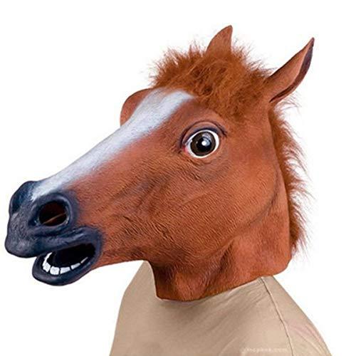 NANUNU Pferdekopf-Mundschutz Neuheit Cosplay Maskerade Halloween Lustige Latex Tierkopf Mundschutz Halloween Cosplay Werkzeuge