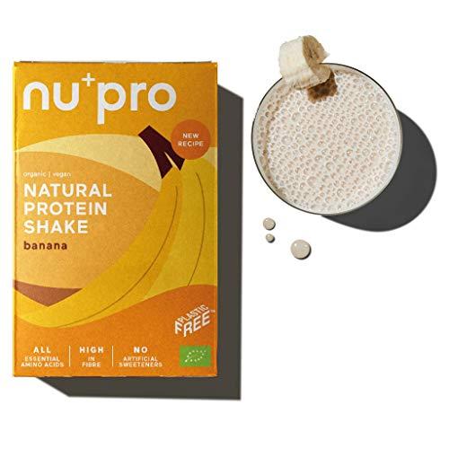 nupro 2.0 Veganes Bio Proteinpulver -Banana- Ganzheitlicher Eiweiß Shake aus Pflanzlichen Proteinen zur Versorgung von Muskulatur & Darmflora [Ohne Soja, Aromen oder Süßstoff|3x200g]
