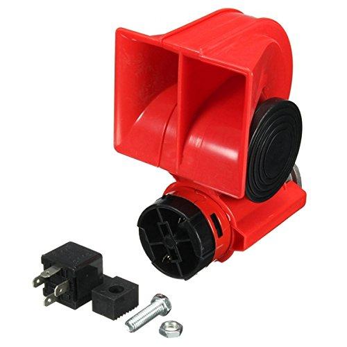 C-FUNN luidspreker DC 12 V rood Twin Tone Air Blast hoorn elektrische stoom met relais voor de boot van de auto