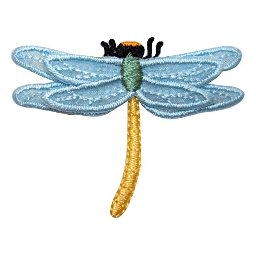 ID 1662B Garden Dragonfly Patch Insect Bug Craft Embroidered Iron On Applique