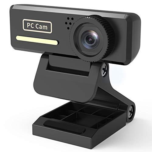 Webcam mit Mikrofon, Abask 2MP HD PC Kamera, USB Web Cam Plug und Play, Rauschunterdrückung, Facecam für Videochat und Aufnahme, Konferenz, Studieren, Spiel, FaceTime Skype Zoom Hangouts, Windows, Mac