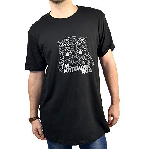 SUPERMOLON Camiseta Unisex I'm Watching You M Negro Long