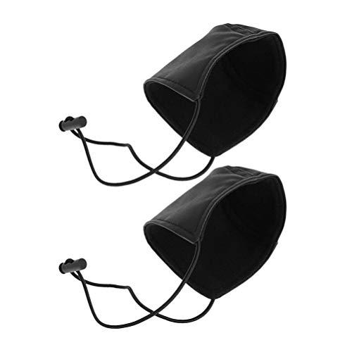 BESPORTBLE 2pcs Driving Shoe Heel Cover Protectors Wearproof Shoe Heel Pads Wear Resistant Shoe Cover Heel Protection Mat for Driver Gifts Black