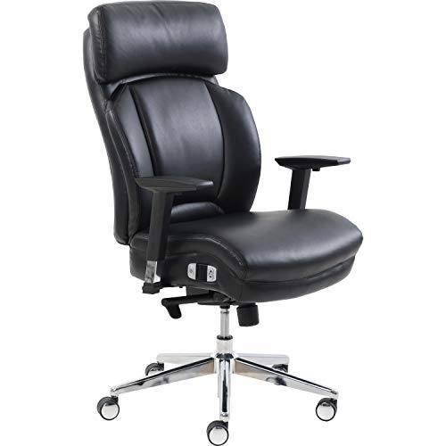 Lorell Lumbar Support High-Back Chair, Black
