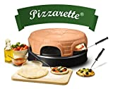 Emerio Pizzaofen, PIZZARETTE das Original, handgemachte Terracotta Tonhaube, patentiertes Design, für Mini-Pizza, echter Familien-Spaß für 6 Personen, PO-115848.1, Tonkuppel