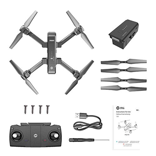 Holy Stone HS270 GPS 2.7K Drone with FHD FPV Camera Live Video for Adults, Portable Selfie Quadcopter for Beginners with Auto Return Home, Custom Flight Path, Follow Me and Spare Parts Kit