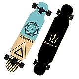 "42"" Longboard Dancing board pro Skateboard Cruiser Double Kick Double layer Natural Wood"