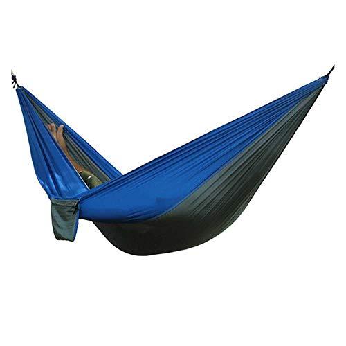 NOBRAND Portable Lightweight Nylon Parachute Double Hammock Multi-Functional Hammock Camping Backpacking Travel Beach Yard Garden