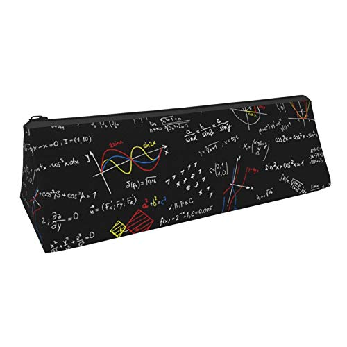 Portable Pencil Case, Mathematical Formula Stylish Triangle Pencil Pouch Stationery Organizer Pen Holder Bag For School Supplies