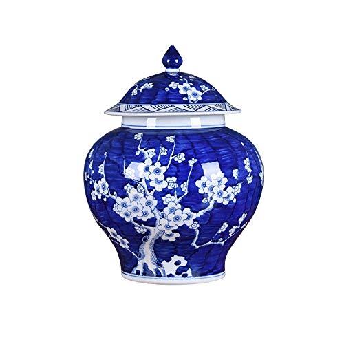Keramische bloem vaas blauw en wit porselein keramische handgemaakte bloem vaas bloempot China grote ming stijl antieke decoratieve kunstwerken Voortreffelijk