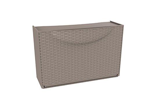 TERRY Harmony Box Scarpiera, Tortora Rattan, 51x19x39 cm, plastica