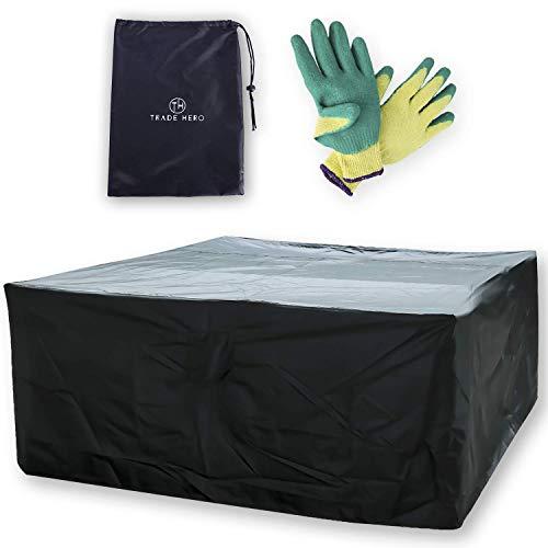 TH TRADE HERO Abdeckung für Gartenmöbel (210x250x90 cm) - wasserdichte Abdeckplane für Gartentisch, Lounge oder Balkonmöbel - extrem wetterbeständig